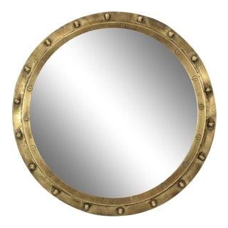 Round Brass Port Hole Mirror For Sale