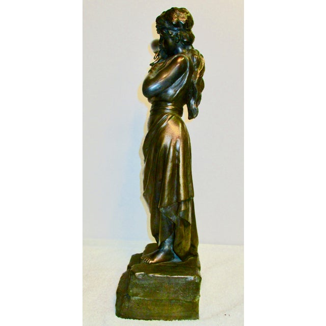 Emmanuel Villanis French Chained Slave Sculpture For Sale - Image 4 of 7