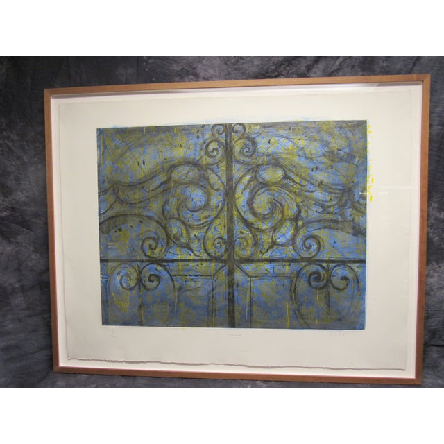 """Crommelynck Gate"" Lithograph Signed and Numbered by Jim Dine For Sale - Image 11 of 13"