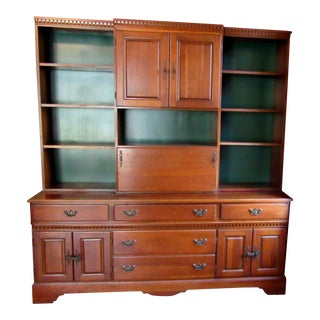 Crawford Furniture of New York Cherry Library Wall Unit For Sale