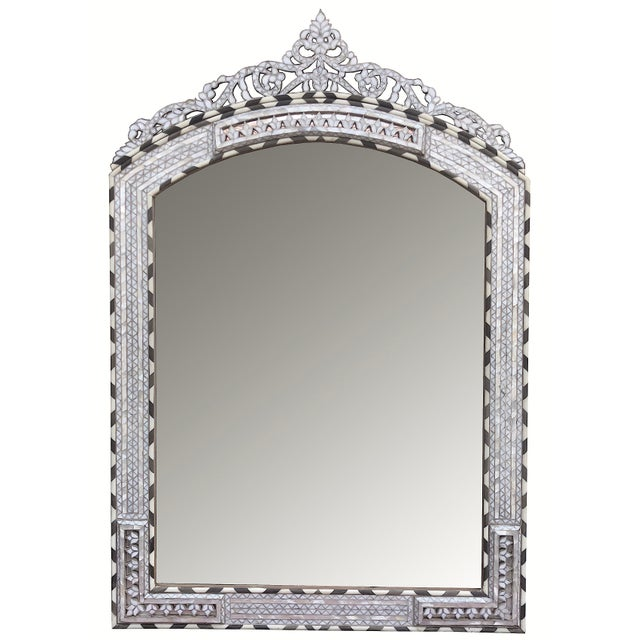 Contemporary Mother of Pearl Inlay Mirror For Sale In Los Angeles - Image 6 of 6