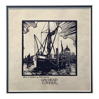 1920's Vintage American Illustration - Gayhead Covers (Trawler) For Sale