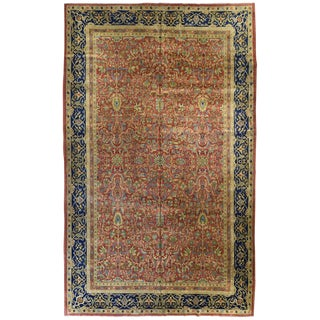 Antique Indian Laristan Carpet