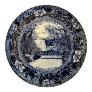 Antique Flow Blue Souvenir Plate of Minnesota