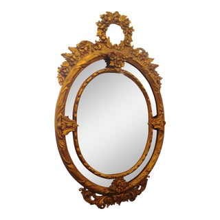 Victorian Wood Carved Mirror For Sale