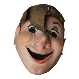 Paper Maché Bobble Head For Sale
