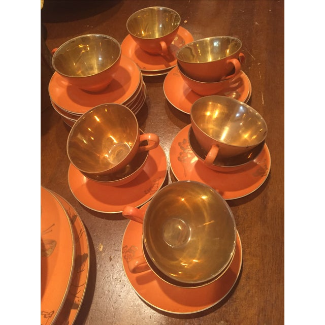 Dorothy Thorpe Persimmon China Set - Set of 67 For Sale - Image 4 of 10