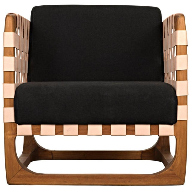 Mid-Century Modern Teak Nebula Chair, Natural For Sale - Image 3 of 9