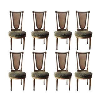 Set of Eight Louis XVI Style Dining Chairs For Sale