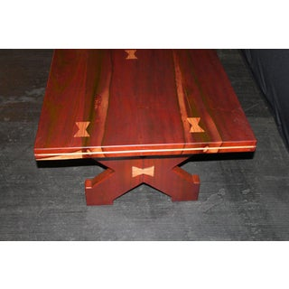 American Craftsman's Table of Exotic Woods With Great Form Preview