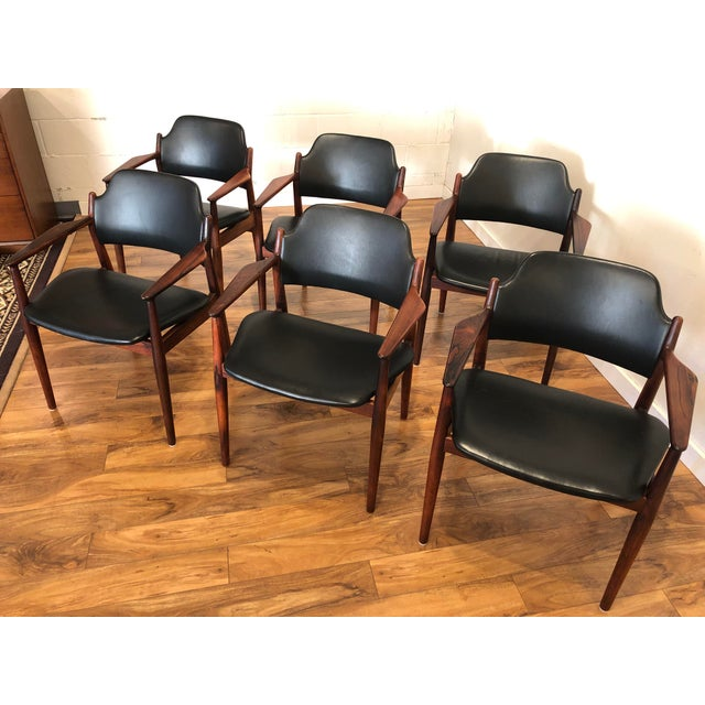 Rosewood Chairs by Arne Vodder for Sibast Furniture, Made in Denmark, Set of 6 For Sale In Seattle - Image 6 of 13
