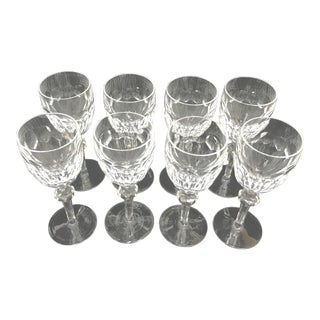 Waterford Clara Cut Crystal Wine Glasses - Set of 8 For Sale