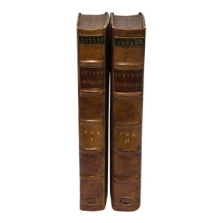17th Century Leather History of the Reformation Volume I and II, 1683 - A Pair