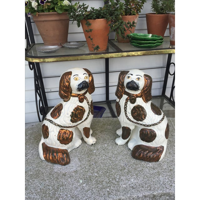 Staffordshire Pottery Dogs - Pair - Image 2 of 8