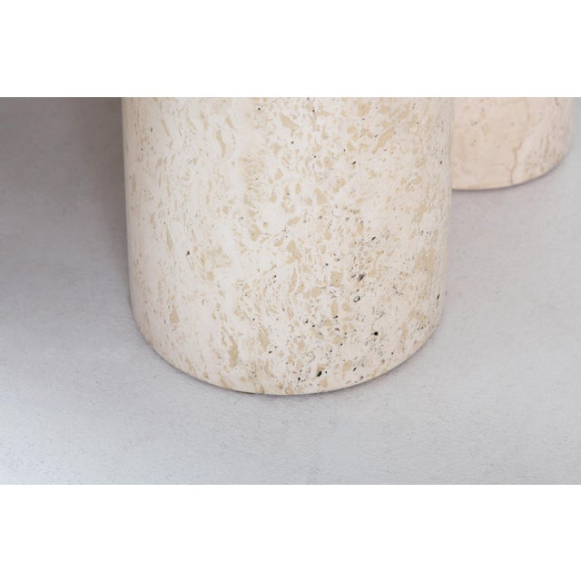 Travertine Dining Table by Mario Bellini 'Il Colonnato' For Sale - Image 9 of 11
