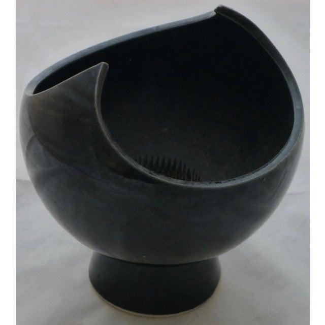 Black Winged Studio Pottery Vase For Sale In Boston - Image 6 of 11