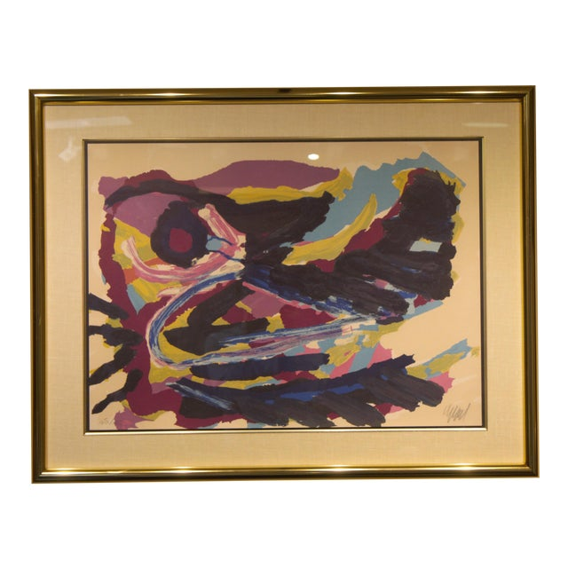 Lithograph by Karel Christiaan Appel Signed and Numbered For Sale