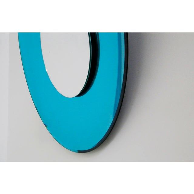 2010s Mirror Blue Contemporary Fashion in Style Fontana Arte by Effetto Vetro, 2010 For Sale - Image 5 of 11