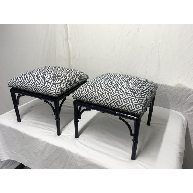 Tomlinson Faux Bamboo Benches, a Pair For Sale In Atlanta - Image 6 of 8