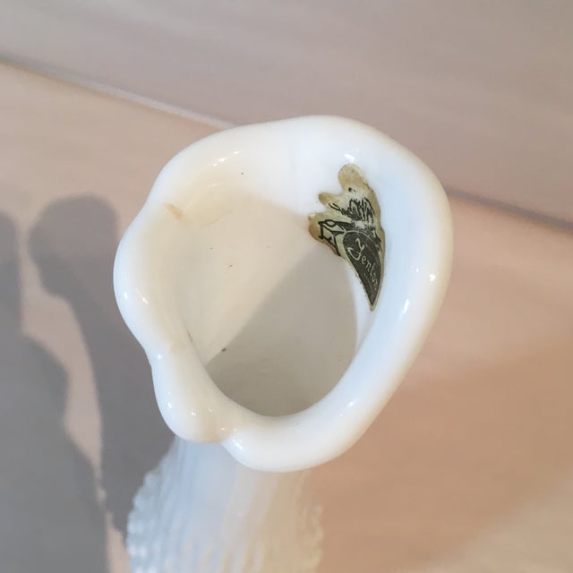 Fenton Hobnail Milk Glass Swung Bud Vase For Sale - Image 9 of 9