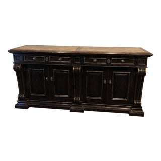 Traditional Marge Carson Marble Top Credenza For Sale