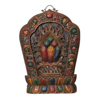 Tibetan Wooden Wall Carving For Sale
