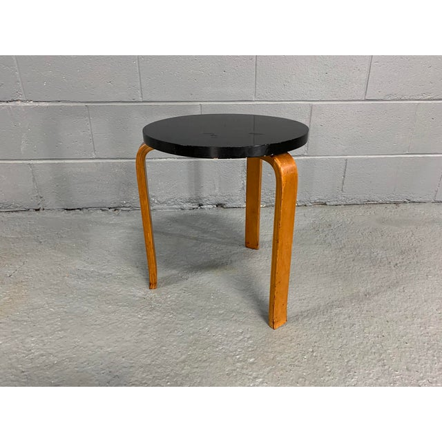 Wood Alvar Aalto Birch Stool for Artek For Sale - Image 7 of 11