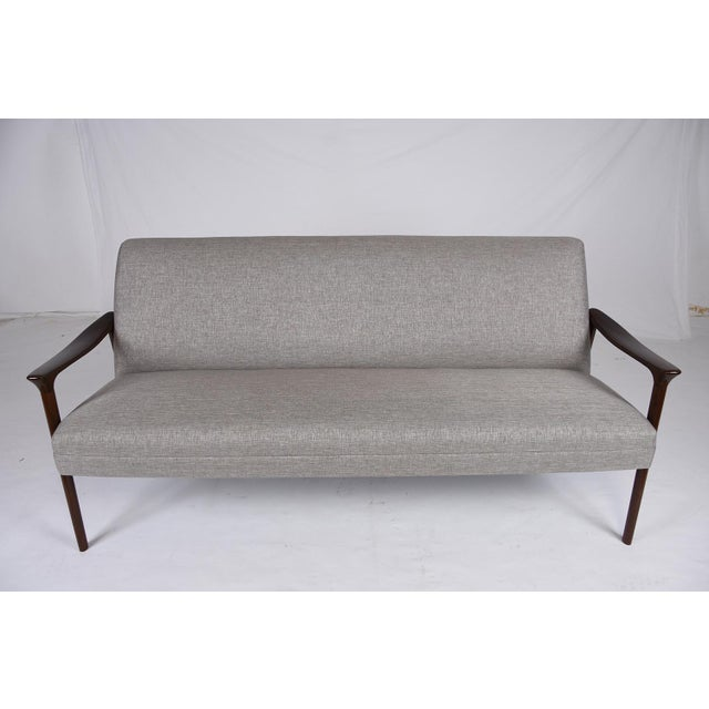 Danish Modern DanishModern Style Teak Wood Sofa For Sale - Image 3 of 9