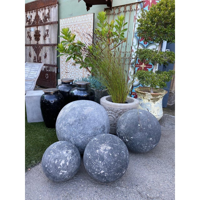 Stone Stone Garden Sphere X-Large For Sale - Image 7 of 7
