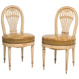Image of 1920s Vintage French Hot Air Balloon Side Chairs- a Pair For Sale