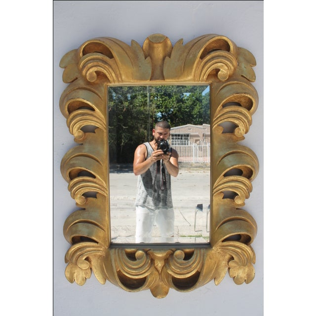 Dorothy Draper-Style Carved Wall Mirror - Image 11 of 11