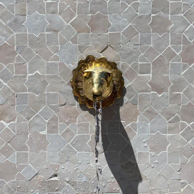 2020s Beige Moroccan Arch Tile Fountain For Sale - Image 5 of 6