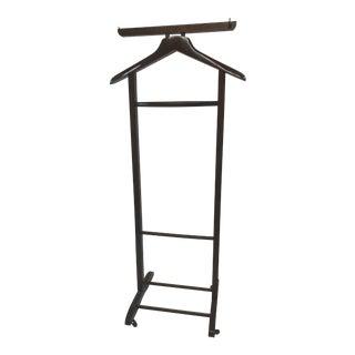 Vintage Mid Century Modern Wood Butler / Valet Hanger Stand For Sale