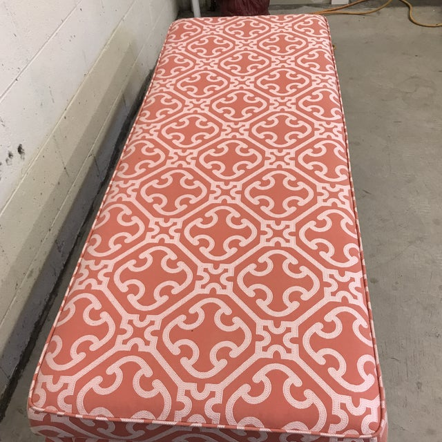 Ming Style Bench in Scalamandre Fabric For Sale - Image 4 of 12