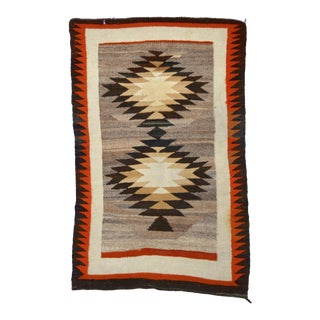 "Early 1900s Navajo Rug 52"" X 34"" For Sale"