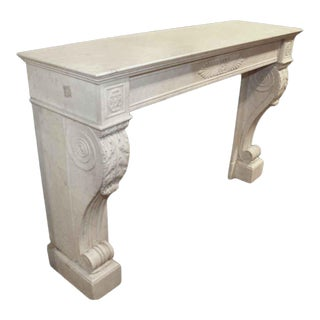 Antique French Empire Style Marble Mantel For Sale