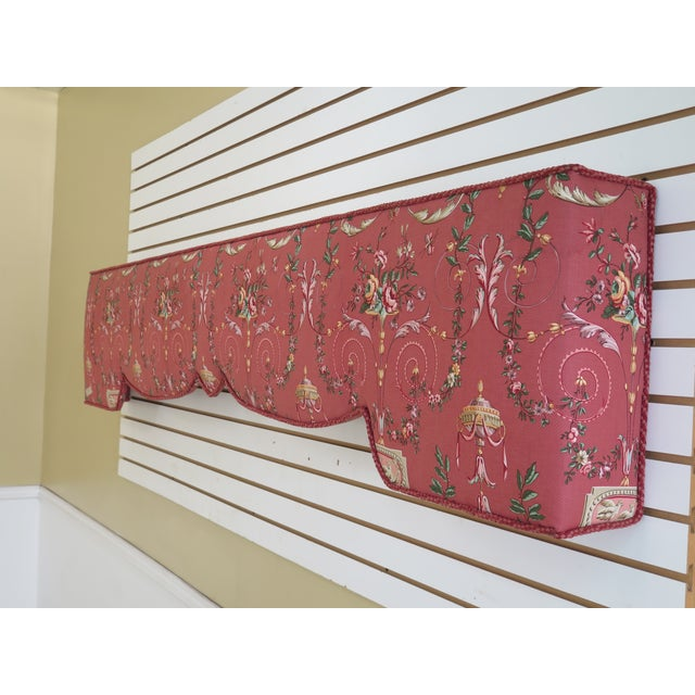 Item: F29961EC: Custom Made Floral Print Upholstered Box Window Valance Age: Less Than One Year Details: Nice Shapely...