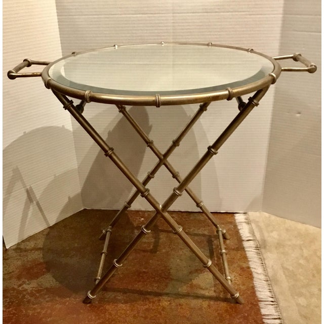 2010s Asian Modern Mirror Top Style Side Table For Sale - Image 5 of 6