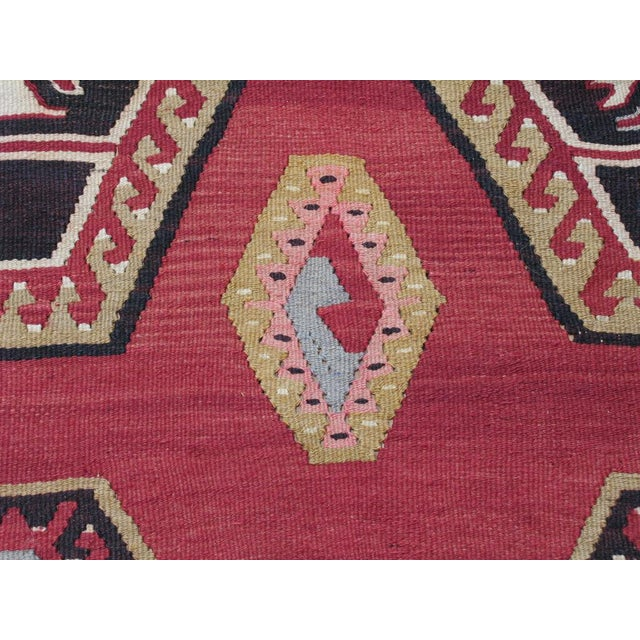 Sharkisla Kilim Wide Runner For Sale - Image 9 of 9