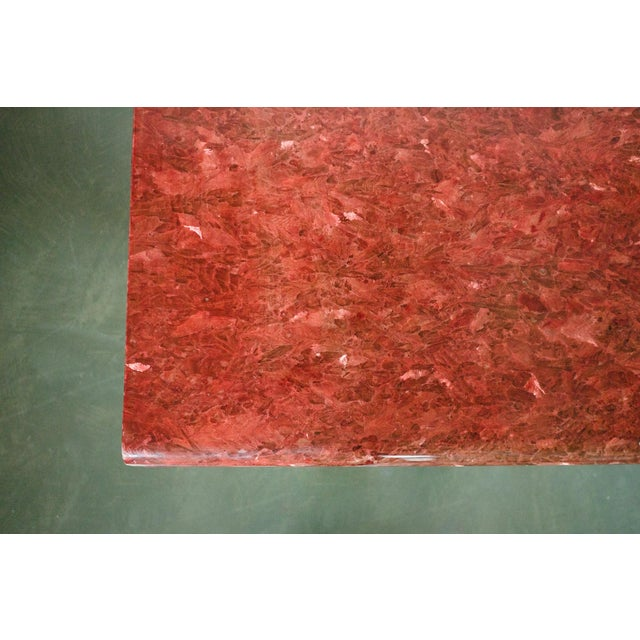 Late 20th Century Red Quartz Dining Table For Sale - Image 5 of 10