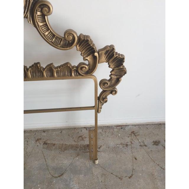 Vintage Gold Hollywood Regency Headboard For Sale - Image 4 of 5