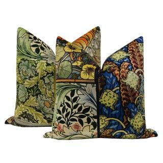 """22"""" Stainglass Velvet Pillows - a Pair For Sale"""