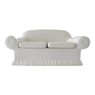 Vintage Donghia Sofa for Toscany Ceramic Keepsake Box