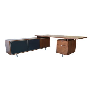 George Nelson for Herman Miller L-Shaped Executive Desk, 1950s