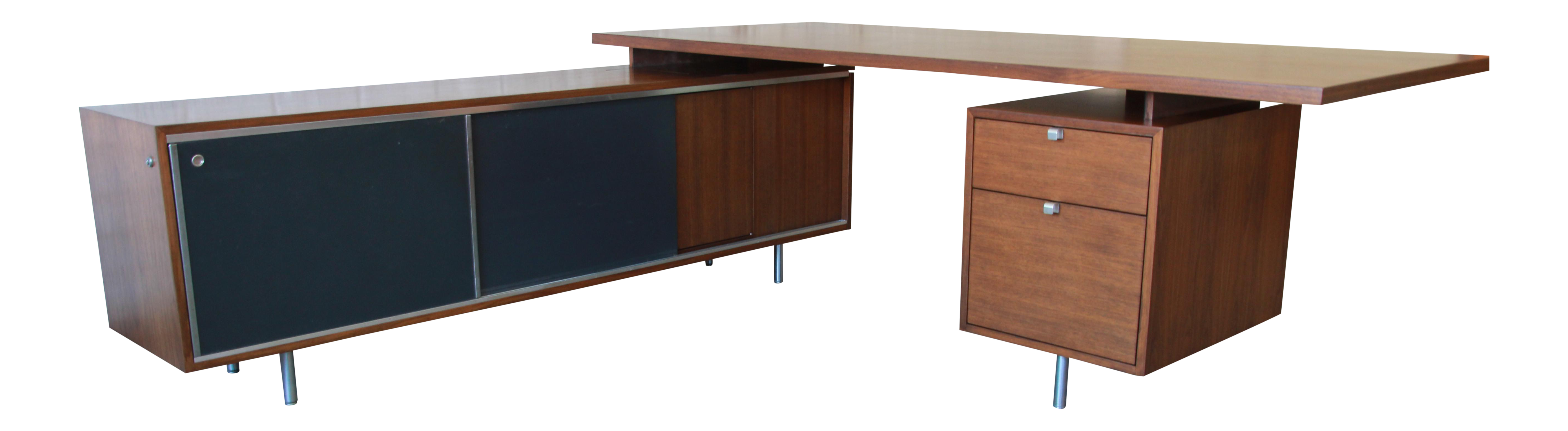 George Nelson For Herman Miller L Shaped Executive Desk, 1950s For Sale