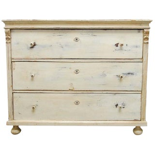 19th Century Gustavian Pine Chest of Drawers For Sale