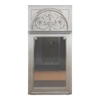 Antique Neoclassical Style Architectural Trumeau Mirror For Sale