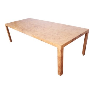 Roger Spunger for Dunbar Mid-Century Modern Burl Wood Extension Dining Table For Sale
