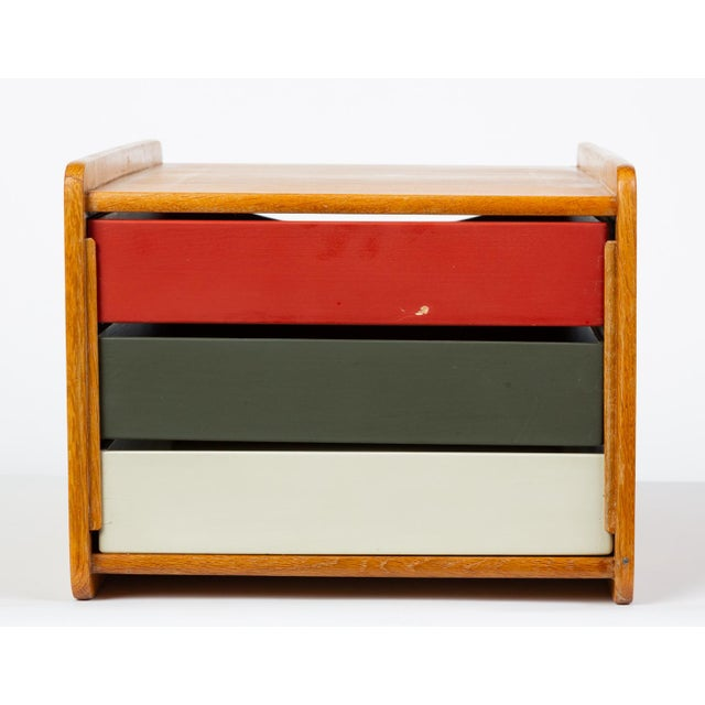 White Oak Desk Organizer With Painted Drawers by Børge Mogensen for Karl Andersson For Sale - Image 8 of 12