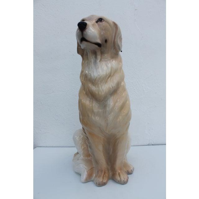 Italian Ceramic Dog Statue - Image 4 of 7